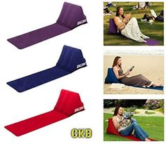 Inflatable Lounger Wedge Back Cushion Camping Chill Out Portable Travel Garden