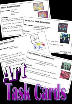 Art Task Cards - great for early finishers, art centers, and more!
