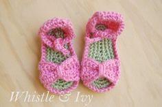 Crochet Baby Sandals | AllFreeCrochet.com