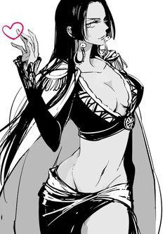 One Piece - Boa Hancock One Piece Manga, One Piece Fanart, One Piece Dress, Anime Echii, Anime Art, Nami Swan, One Piece Tattoos, Tsurezure Children, Tsubaki Chou Lonely Planet