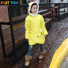 Find More Down & Parkas Information about children cartoon with hair down jacket coat girls in the long wave of products 2809,High Quality girl snake,China girls summer coats Suppliers, Cheap girls spring dress coats from FT Children Clothes Store on Aliexpress.com