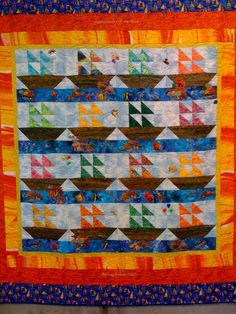 Enchantment of the Seas quilt by O.V. Brantley. ovbrantley.com