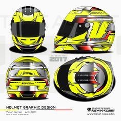 Victor Bernier helmet design project - On Arai CK6. ©2016 - K. ROSSI - All rights reserved.