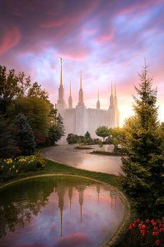 Mormon Temples, Lds Temples, Lds Temple Pictures, Lds Pictures, Ancient Greek Architecture, Gothic Architecture, Lds Mormon, Winter Sunset, Lds Church