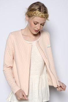 Veste Houzette poudre 80% coton 20% polyester - manteau Femme -