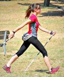 nordic walking tecnical images