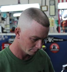 Flattop -- This haircut is on the level, man! Crew Cut Haircut, Bald Haircut, Flat Top Haircut, Soldier Haircut, Military Haircuts Men, High And Tight Haircut, Hot Haircuts, Best Shave, Shaved Head