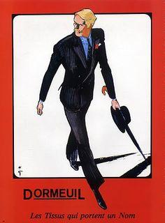 René Gruau men's fashion illustration