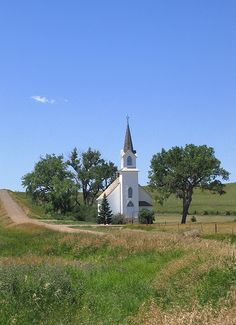 Lutheran Church-Sims, North Dakota. Ghost town; all that remains is a Lutheran church, parsonage, with cemetery on hill and the reamins of an old house.  Suppose to be one of the oldest Lutheran Churches West of Missouri River.   | by j_piepkorn65