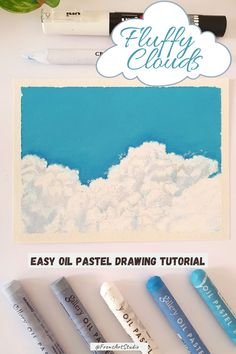 Learn how to draw this cute cloud drawing with oil pastels. This Youtube cloud drawing tutorial shows you all the steps in drawing these fluffy clouds which I hope you'll enjoy watching and drawing with me. It is an easy and step by step tutorial for beginners. I used soft oil pastels from Mungyo for this drawing and all the colors used are mentioned in the video. Follow for more art videos and tutorials in different art mediums like watercolors, acrylic, oil pastels, gouache and more. Cloud Drawing, Oil Pastel Drawings, Learn To Draw, Medium Art, All The Colors, Clouds, Oil Pastels, Learning, Gouache