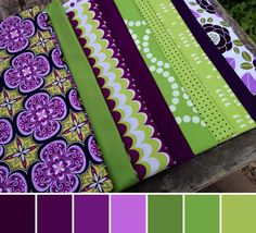 Purple and Green Glory!   Weekly Fabric Stash Challenge   PileOFabric.com #pileofabricstashshare #fabricstash
