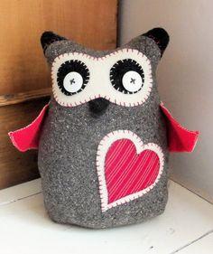 Scandi Owl Doorstop |  www.bustleandsew.com