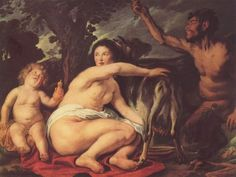 Der kleine Zeus mit Nymphe Amalthea und Ziege