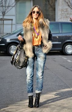 I want pretty: LOOK- How to wear fur vests / Cómo usar chalecos de peluche?