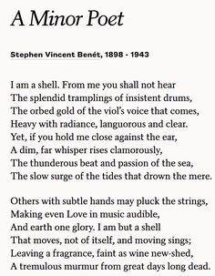 Chosen Poem