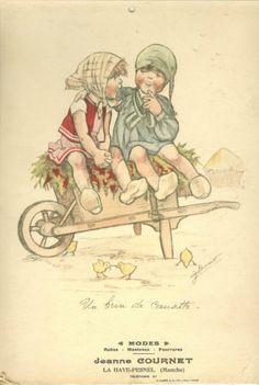Germaine Bouret carton publicitaire de Modes La Haye Pesnel, (Manche) in Collections, Lettres, vieux papiers, Vieux papiers, Affiches, gravures   eBay