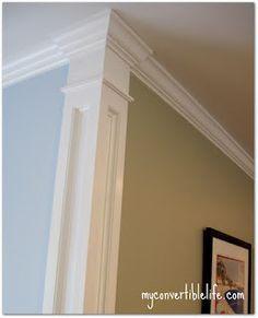 Una moldura para las esquinas servirá como separación entre dos colores diferentes de habitación. #Esmadeco.
