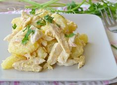 Insalata di pollo e patate con salsa tonnata Easy Cooking, Healthy Cooking, Healthy Recipes, Cold Dishes, Fish Dishes, I Love Food, Good Food, Yummy Food, Antipasto