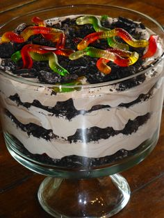 Check out this recipe I found on BigOven! Dirt Cake!!!