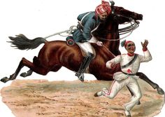 Oblaten Glanzbild scrap die cut chromo Arab Pferd horse  16,5 cm  Kampf fight at.picclick.com