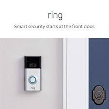"""Connect your Ring doorbell with Alexa then enable announcements to be alerted when your doorbell is pressed or motion is detected. Talk to visitors through compatible Echo devices by saying """"Alexa, talk to the front door"""". Ring Video Doorbell, Bait And Switch, Alexa Device, Audio Headphones, Works With Alexa, Home Automation, Shopping, Combat Boots"""