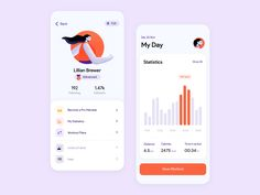 Every day most digital designers look for inspiration on sources like Dribbble or Behance for mobile and webdesign UI/UX works. In a large stream Ui Design Mobile, App Ui Design, User Interface Design, Web Design, Mobile Ui, Profile App, Ui Design Inspiration, Ui Web, Workout