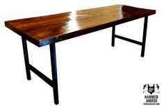 Modern Reclaimed Wood Dining Table By by HammerFoxFurnishings