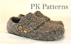 Knitting PATTERN (pdf file) - Lady Finkaas/Loafers size 6-9