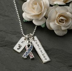 Pregnancy and Infant Loss Awareness Necklace by littleangelsmemory
