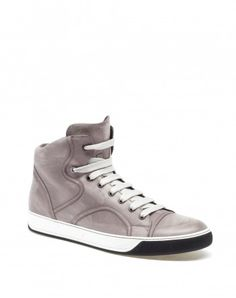 LEATHER MID-HIGH SNEAKER