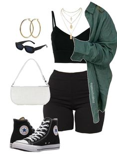 Baddie Outfits Casual, Style Outfits, Cute Swag Outfits, Cute Comfy Outfits, Kpop Fashion Outfits, Girls Fashion Clothes, Tomboy Fashion, Retro Outfits, Look Fashion