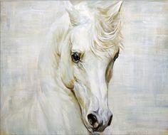 White #horse #painting