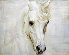 White #horse #painting