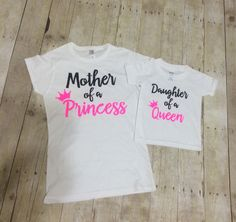 Mommy and Me Set Mother of a Princess Daughter of a by Tovars