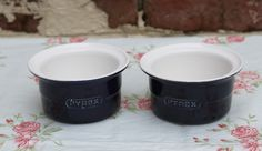 Pyrex Blue Set of Two Ramekins. Crafted in Ceramic. Kitchen Collectable. by AtticBazaar on Etsy