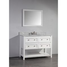 "Legion Furniture 48"" Single Bathroom Vanity Set with Mirror & Reviews 