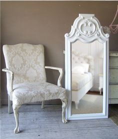 French Provencall , Leaning Mirror