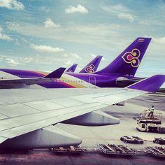 Thai Airways plane tail.