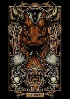 #Signos #Ilustração #Touro #Taurus