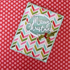 Merry Christmas Shaker Card by Lizzie Jones for Papertrey Ink (November 2016)