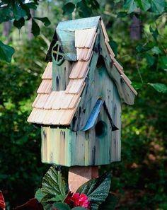 Boyd's Bungalo Rustic Birdhouse-Green