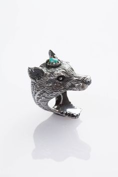 Wolf Clan Ring - Silver and Turquoise http://shop.spelldesigns.com/collections/rings/products/wolf-rider-ring-silver-and-turquoise