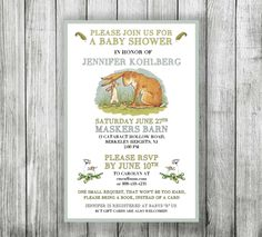 Guess How Much I Love You Themed Baby Shower Invitation by EventfulDesignShop on Etsy https://www.etsy.com/listing/473792491/guess-how-much-i-love-you-themed-baby