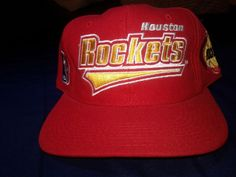 NWT VINTAGE 90 S HOUSTON ROCKETS STARTER SNAPBACK WOOL HAT  fashion   clothing  shoes  accessories  mensaccessories  hats (ebay link) a24e50d91ec5