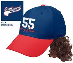 Eastbound & Down Kenny Powers 55 Baselball Cap Hat With Mullet Wig