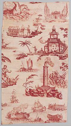 """Neptune"" ca. 1794 ~ French (Nantes) cotton"