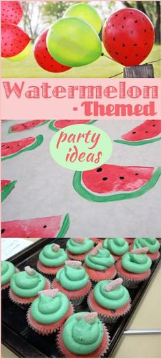 Draw your own watermelons on the table cloth & sharpie black seeds onto red ballons. Watermelon Party Ideas. This looks like such fun!