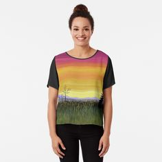 Chiffon Tops, Classic T Shirts, My Arts, Printed, Landscape, Awesome, Clothing, Mens Tops, Dresses