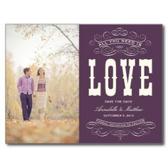 OLD TIME VINTAGE | SAVE THE DATE ANNOUNCEMENT POST CARD