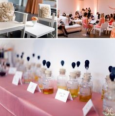 "I had never thought of a ""scent bar"" for a bridal shower, but what a fun activity."